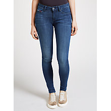 Buy Hilfiger Denim Mid Rise Skinny Fit Jeans, Dark Stretch Online at johnlewis.com