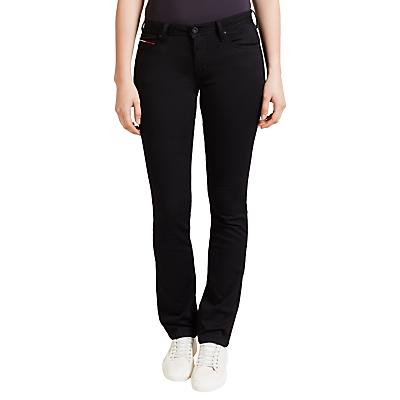 Hilfiger Denim Mid Rise Straight Jeans, Dana Black Stretch
