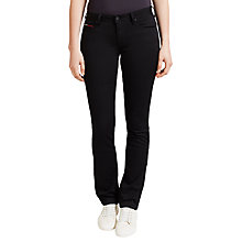 Buy Hilfiger Denim Mid Rise Straight Jeans, Dana Black Stretch Online at johnlewis.com