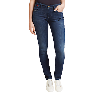 Hilfiger Denim Mid Rise Slim Fit Jeans, Dark Stretch