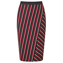 Buy Weekend MaxMara Candore Stripe Skirt, Red/Dark Grey Online at johnlewis.com