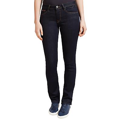 Hilfiger Denim Mid Rise Straight Jeans, Niceville Dark Stretch