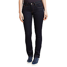 Buy Hilfiger Denim Mid Rise Straight Jeans, Niceville Dark Stretch Online at johnlewis.com