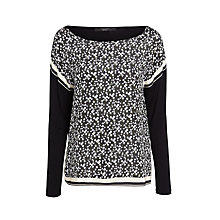 Buy Weekend MaxMara Virtus Silk Front Top, Black Online at johnlewis.com