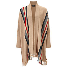 Buy Weekend MaxMara Acume Stripe Knitted Shawl, Camel Online at johnlewis.com