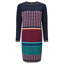 Buy Weekend MaxMara Soraia Optical Graphic Knitted Dress, Multi Online at johnlewis.com