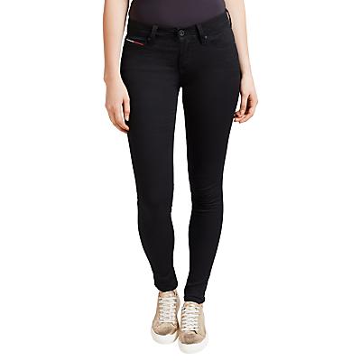 Hilfiger Denim Mid Rise Skinny Fit Jeans, Dana Black Stretch
