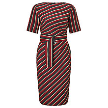 Buy Weekend MaxMara Palatto Stripe Dress, Red/Dark Grey Online at johnlewis.com