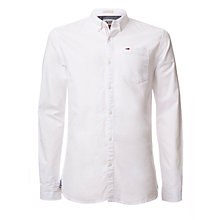 Buy Tommy Hilfiger Long Sleeve Denim Shirt, Classic White Online at johnlewis.com