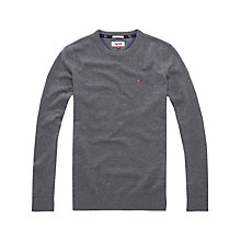 Buy Hilfiger Denim Basic Crew Neck Sweatshirt Online at johnlewis.com