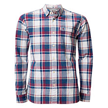 Buy Hilfiger Denim Checkered Cotton Shirt, Light Indigo Online at johnlewis.com