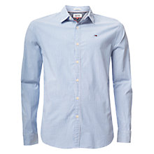Buy Hilfiger Denim Basic Dobby Strip Shirt, Light Blue Online at johnlewis.com
