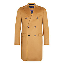 Buy Tommy Hilfiger Gimon Tailored Overcoat, Tan Online at johnlewis.com