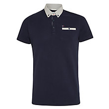 Buy Hilfiger Denim Button Down Detail Polo Top, Navy Blazer Online at johnlewis.com