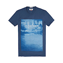 Buy Hilfiger Denim Graphic Print T-Shirt, Blue Wing Teal Online at johnlewis.com
