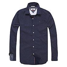 Buy Hilfiger Denim Printed Stretch Shirt, Black Iris Online at johnlewis.com