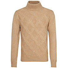 Buy Tommy Hilfiger Wyatt Turtle Neck Jumper, Tigers Eye Heather/Snow White Online at johnlewis.com