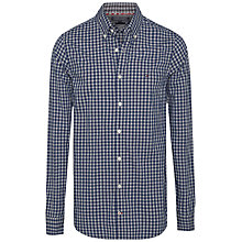Buy Tommy Hilfiger Cotton Gingham Shirt, Dutch Navy/Cloud Heather Online at johnlewis.com