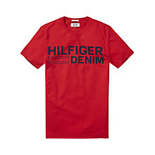 Buy Hillfiger Denim Basic Crew Neck T-Shirt Online at johnlewis.com