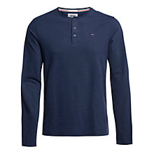 Buy Hilfiger Denim Basic Henley Long Sleeve T-Shirt, Black Iris Online at johnlewis.com