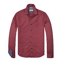 Buy Hilfiger Denim Solid Shirt, Rhubarb Online at johnlewis.com