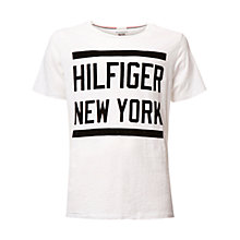 Buy Hilfiger Denim New York Cotton T-Shirt, Classic White Online at johnlewis.com