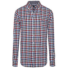 Buy Tommy Hilfiger Eli Check Shirt, Grape Leaf Online at johnlewis.com