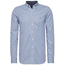 Buy Tommy Hilfiger Multi Stripe Long Sleeve Shirt, Blue Online at johnlewis.com