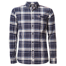 Buy Hilfiger Denim Check Long Sleeve Shirt, Marshmallow/Navy Online at johnlewis.com
