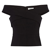 Buy Coast Dylan Structured Top, Black Online at johnlewis.com