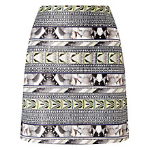 Buy Miss Selfridge Tropical Tube Skirt, Black Online at johnlewis.com