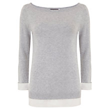 Buy Mint Velvet Layered Knit, Grey Online at johnlewis.com