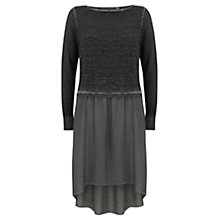 Buy Mint Velvet Longline Knit Tunic, Grey Online at johnlewis.com