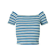 Buy Miss Selfridge Petites Multi Stripe Top Online at johnlewis.com