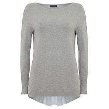 Buy Mint Velvet Macie Godet Back Jumper, Silver Grey Online at johnlewis.com