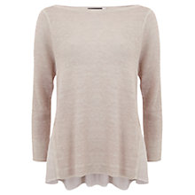 Buy Mint Velvet Overdye Boxy Jumper, Pale Pink Online at johnlewis.com