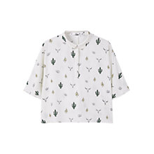 Buy Mango Printed Flowy Shirt Online at johnlewis.com