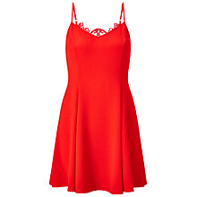 Buy Miss Selfridge Petite Lace Back Dresses, Red Online at johnlewis.com