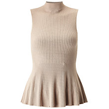 Buy Miss Selfridge Sleeveless Peplum Top Online at johnlewis.com