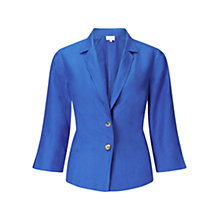 Buy East Linen Two Button Jacket, Cobalt Online at johnlewis.com