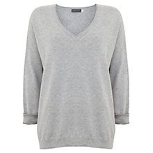 Buy Mint Velvet V-Neck Knit, Grey Online at johnlewis.com