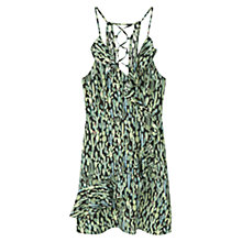 Buy Mango Wrap Dress, Green Online at johnlewis.com