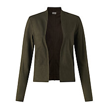 Buy Jigsaw Cotton Flame Jacket, Dark Khaki Online at johnlewis.com