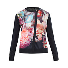 Buy Ted Baker Haleera Focus Bouquet Cardigan, Dark Blue Online at johnlewis.com