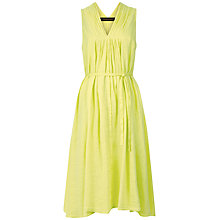 Buy Jaeger Linen A-line Dress, Lime Online at johnlewis.com