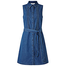Buy Miss Selfridge Denim Shirt Dress, Mid Wash Online at johnlewis.com