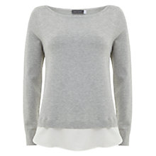 Buy Mint Velvet Twist Back Knit, Grey/White Online at johnlewis.com