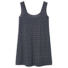 Buy Mango Patterned Back Vent Dress, Navy Online at johnlewis.com