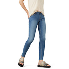 Buy Mango Olivia Skinny Fit Jeans, Open Blue Online at johnlewis.com