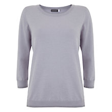 Buy Mint Velvet Lurex Trim Jumper, Lilac Online at johnlewis.com